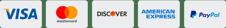Logos Visa Mastercard Discover American Express Paypal
