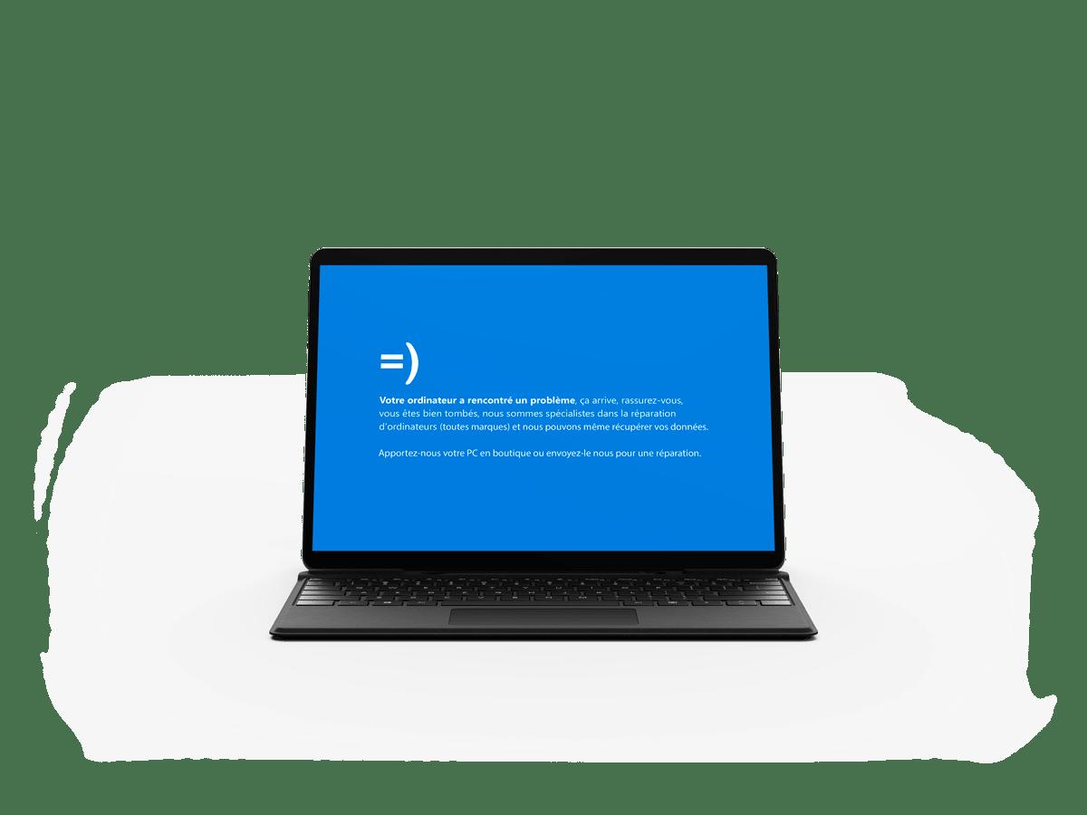 Écran bleu Windows Surface