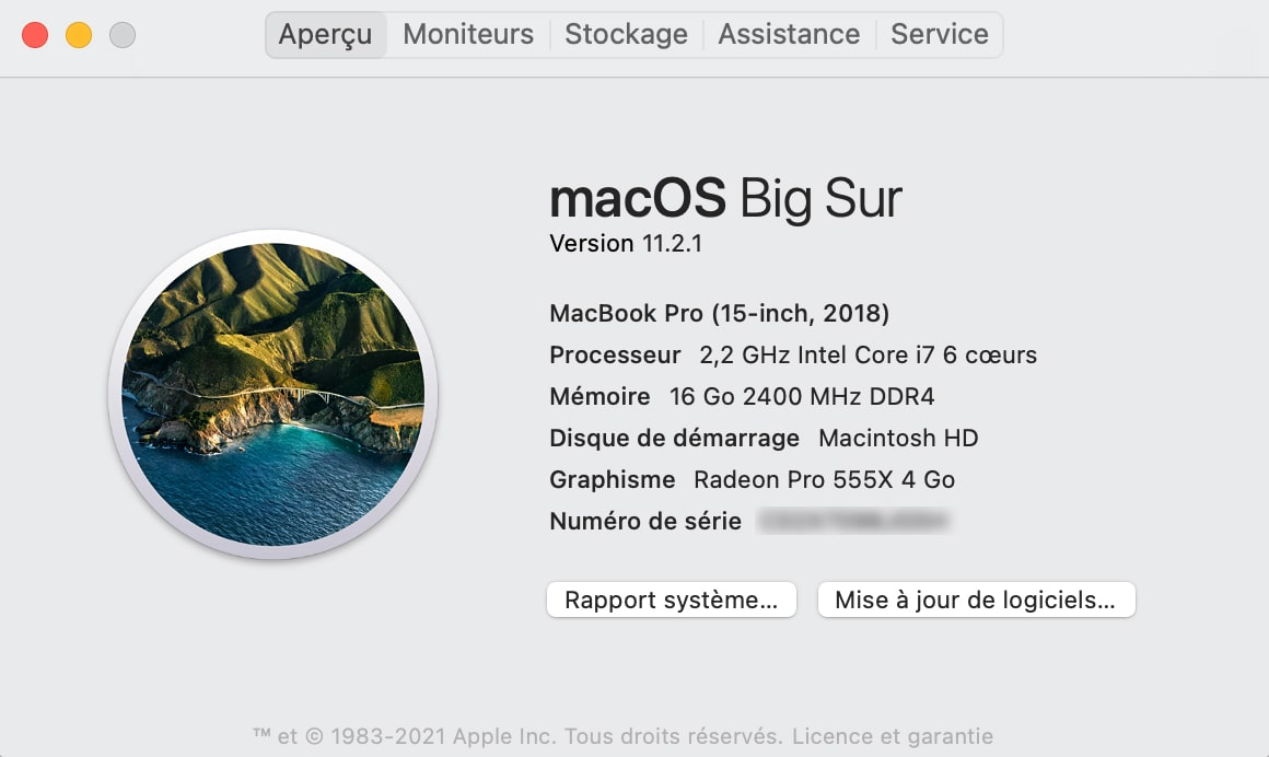 Mise à jour MacBook